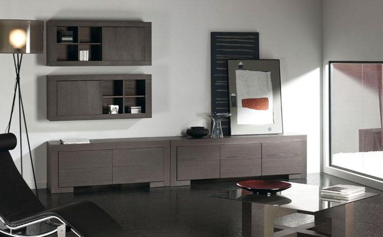 decorar salon con muebles oscuros